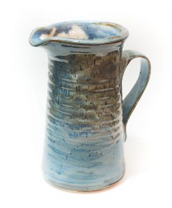 Stoneware Water Pitcher - Blue - 6 cups