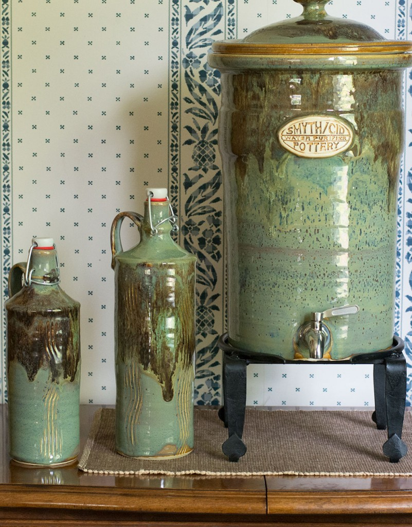 stoneware-water-bottle-and-filtration-crock